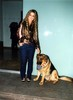 carmen electra with oscar the dog
