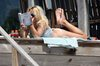 pamela anderson reading a book