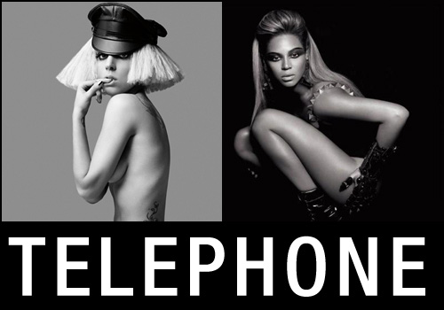 lady gaga + beyonce are on the 'telephone'