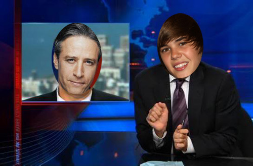 The Beelzebieber took over 'The Daily Show'