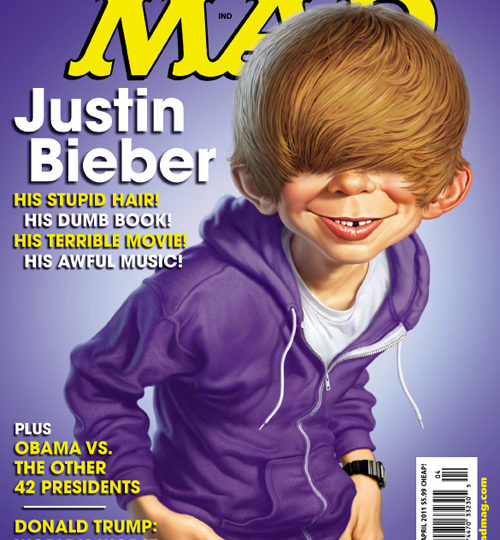 MAD's Alfred E. Neuman does Justin Bieber!