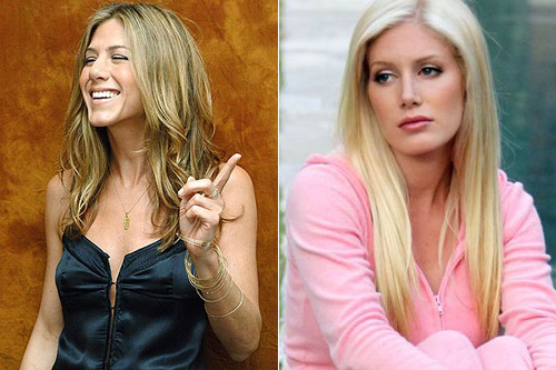 Jennifer Aniston and Heidi Montag