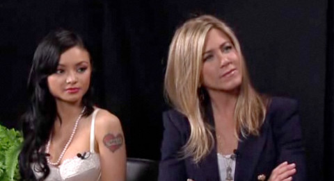 Jennifer Aniston and Tila Tequila