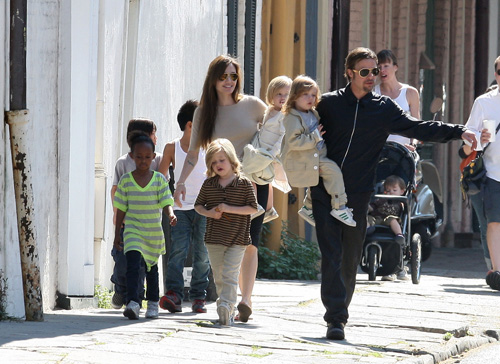The Brangelina clan out in New Orleans!