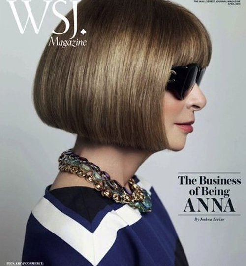 Anna Wintour on the April cover of WSJ!