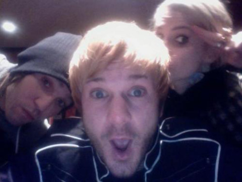 Ashlee Simpson, Pete Wentz and Craig Owens