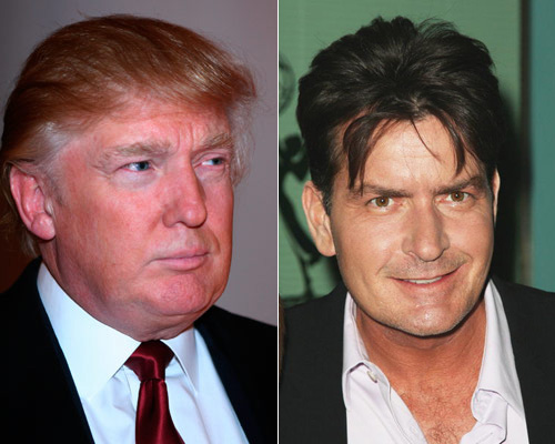 Donald Trump and Charlie Sheen
