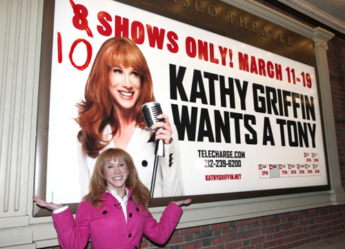 Kathy Griffin: Still playing Palin like a fiddle!