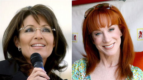 Sarah Palin is mad at Kathy Griffin. Again.