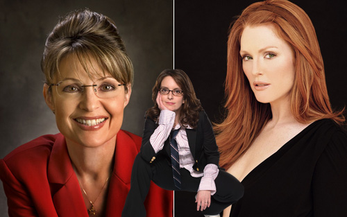 Sarah Palin, Tina Fey and Julianne Moore