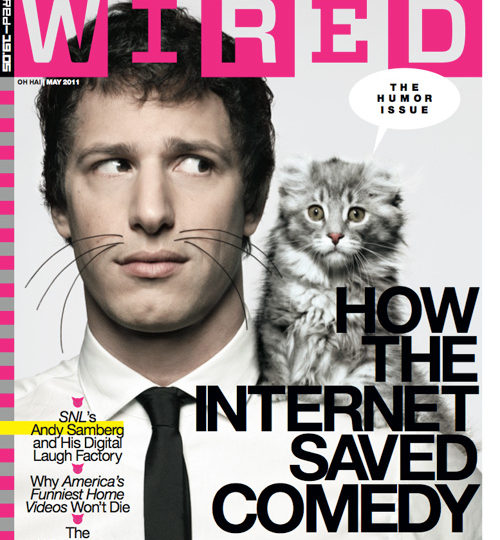 Andy Samberg makes Wired magazine adorable!
