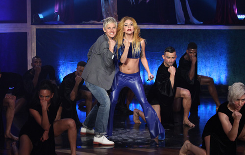 Lady Gaga and Ellen DeGeneres