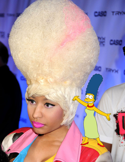 Nicki Minaj and Marge Simpson