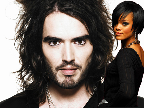 Russell Brand and Rihanna