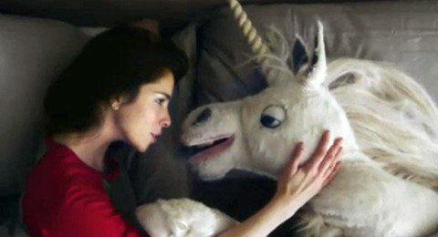 Sarah Silverman and a Unicorn