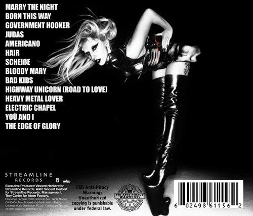 lady gaga born this way deluxe edition tracklist. Lady Gaga - Born This Way