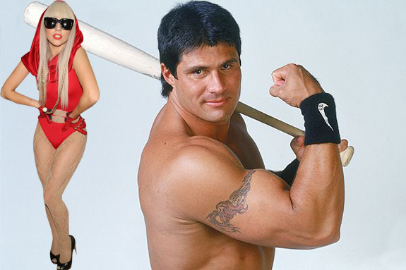 Jose Canseco and Lady Gaga