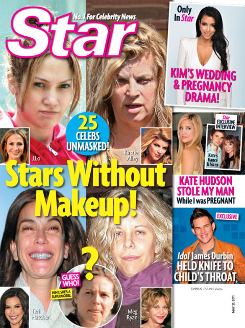 Stars Without Makeup - Star Magazine
