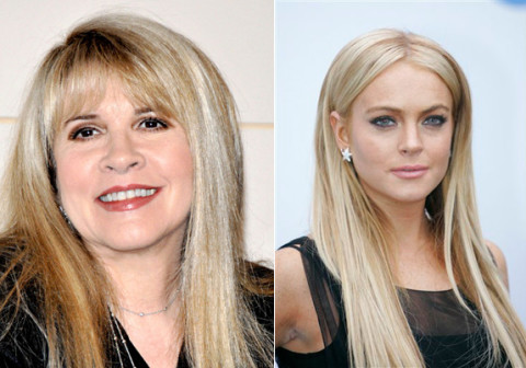 Stevie Nicks and Lindsay Lohan