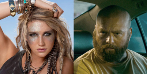 Ke$ha and Zach Galifianakis