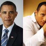 Barack Obama and Dwayne Johnson
