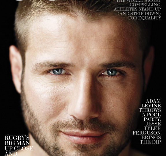Hottie Ben Cohen on the cover of OUT!