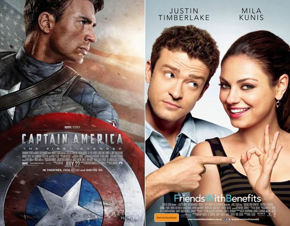 At The Movies: Captain America / Friends With Benefits