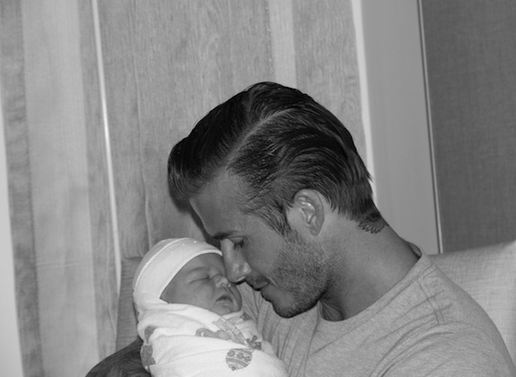 David Beckham and his baby girl Harper Seven!