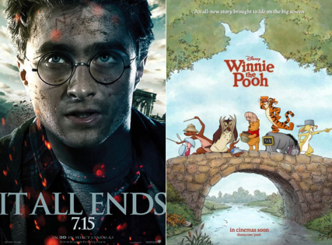 Harry Potter and Winnie The Pooh