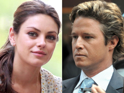 Mila Kunis and Billy Bush