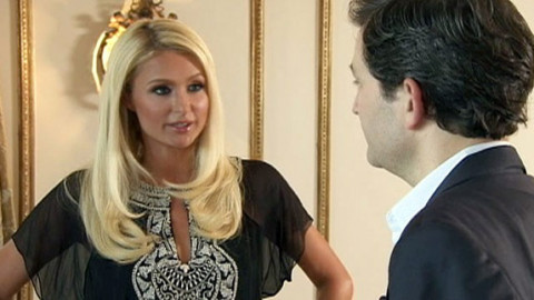 Paris Hilton and Dan Harris