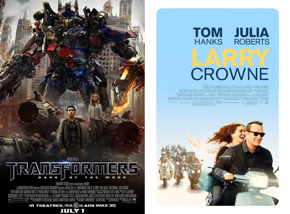 Transformers 3: Dark of the Moon and Larry Crowne