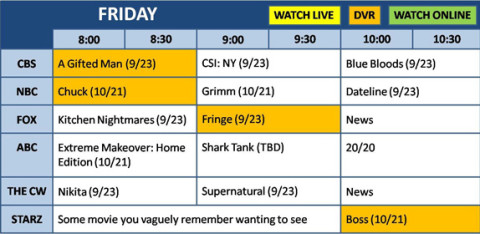 Fall TV 2011: Your Friday night survival guide!