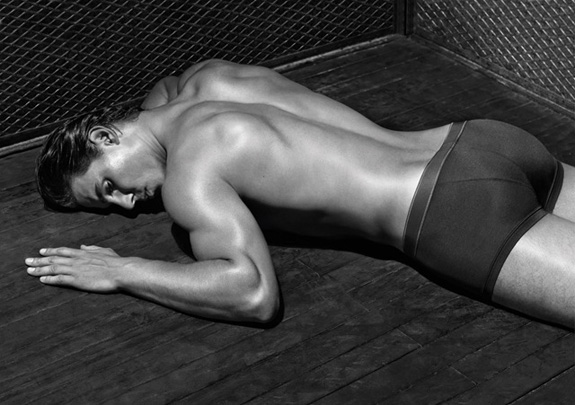 Rafael Nadal strips for Armani!