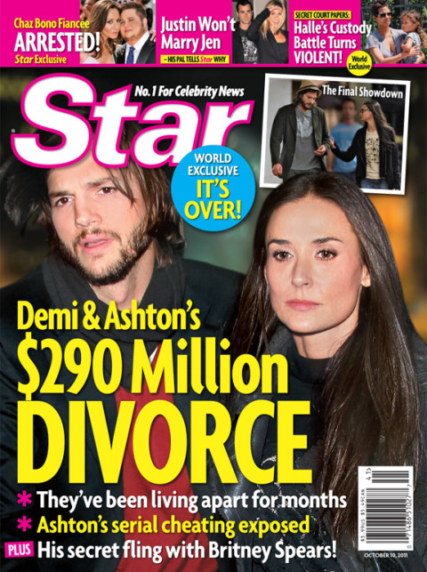 Demi and Ashton's $290 Million divorce?!