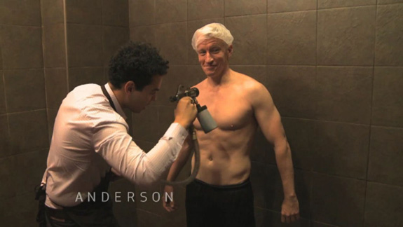 'Snooki' took Anderson Cooper tanning!