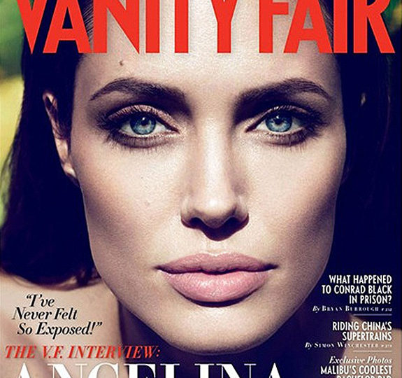 Gorgeous: Angelina Jolie covers 'Vanity Fair'