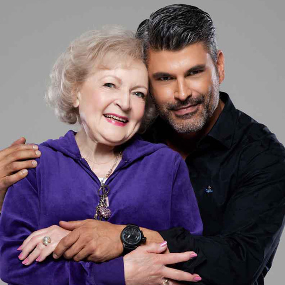 Betty White and Mike Ruiz