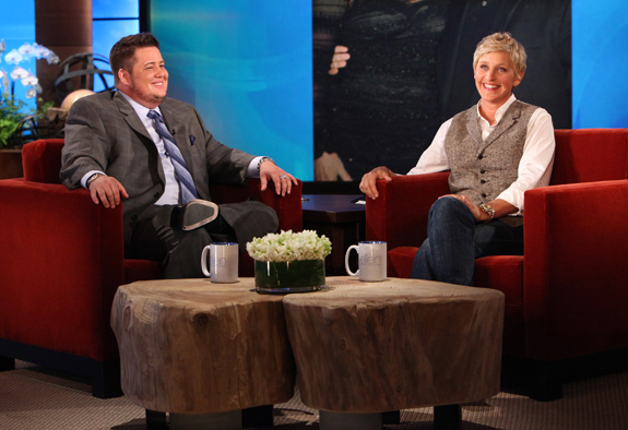 Cher surprises Chaz Bono on Ellen!