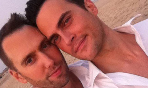 Cheyenne Jackson and Monte Lapka