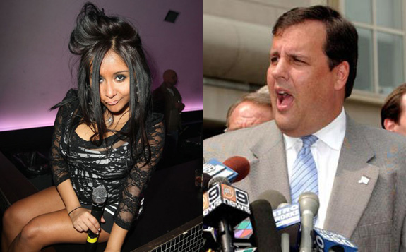 Nicole 'Snooki' Polizzi and Chris Christie