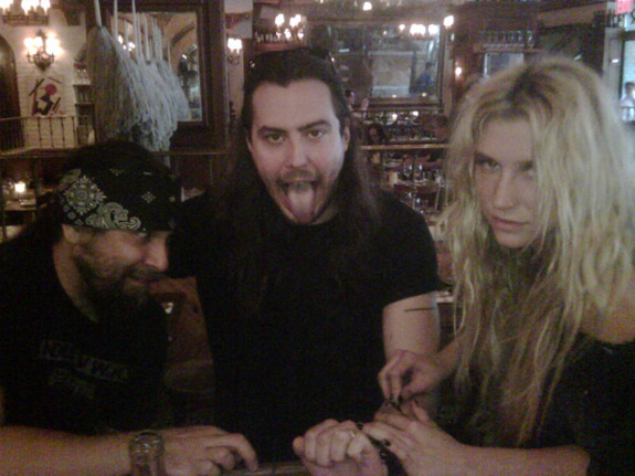 Ke$ha gave Andrew W.K. an infection!