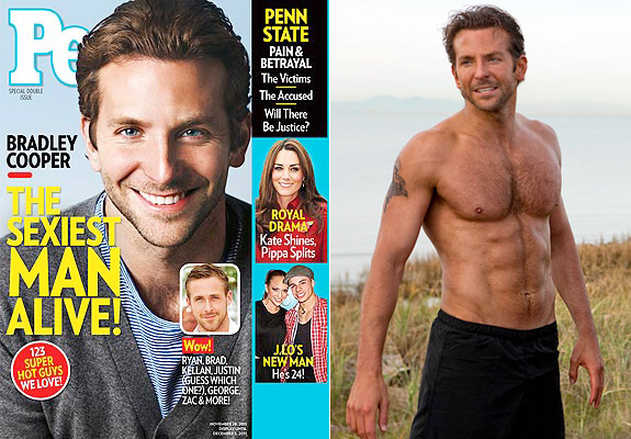 Bradley Cooper: People's Sexiest Man Alive (Really?)