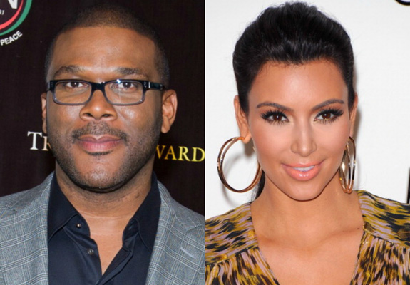 Tyler Perry and Kim Kardashian