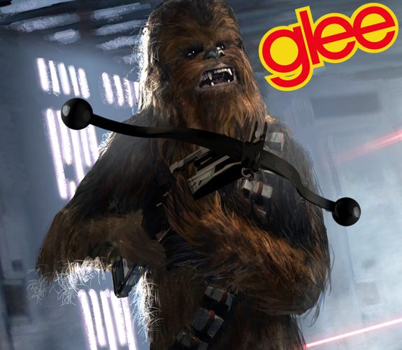 Chewbacca is guest starring on 'Glee'!