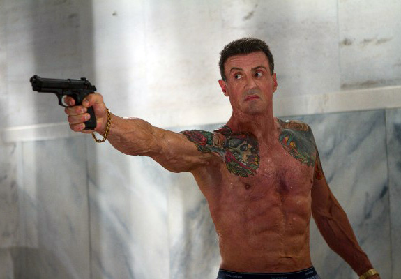 Shirtless Sylvester Stallone: Hot or freaky?