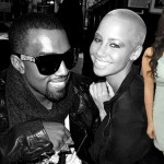 Kanye West, Amber Rose and Kim Kardashian