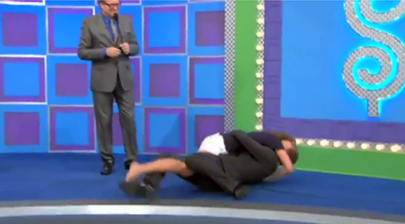 Neil Patrick Harris and Drew Carey got tackled!