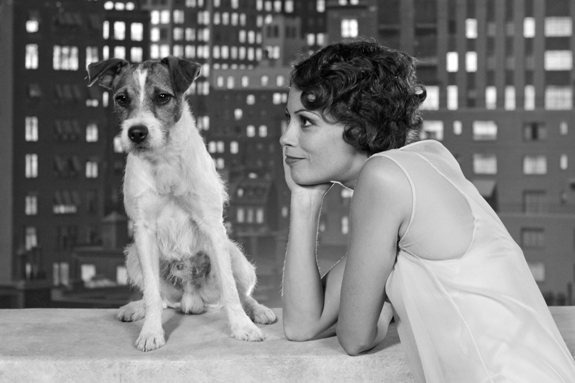 Uggie and Bérénice Bejo