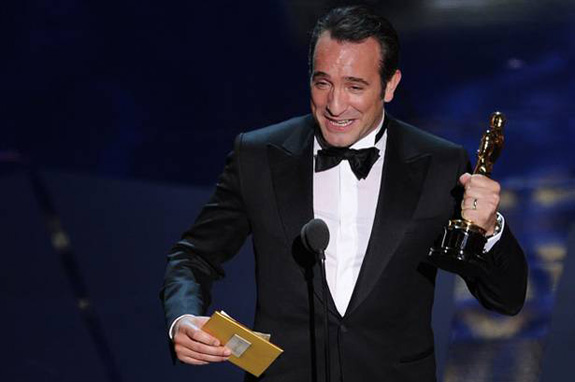 Jean Dujardin's French F-Bomb at the Oscars